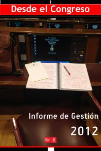 Portada informe de gestion 2012